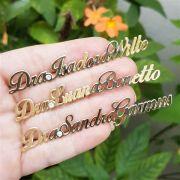 Broche Personalizado com Nome e Zircônia