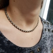 Chocker Corrente com Pérolas 3758