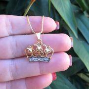 Colar Coroa com Zircônias 3463