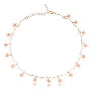 Colar de Barrinhas e Estrelas Pendentes 4390