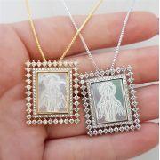 Colar Madre Pérola Nossa Senhora das Graças 4007 Cristal