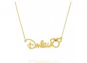 Colar Personalizado Nome Disney (Mickey ou Minnie)