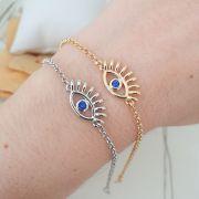 Pulseira olho Grego Pedra Azul 4304