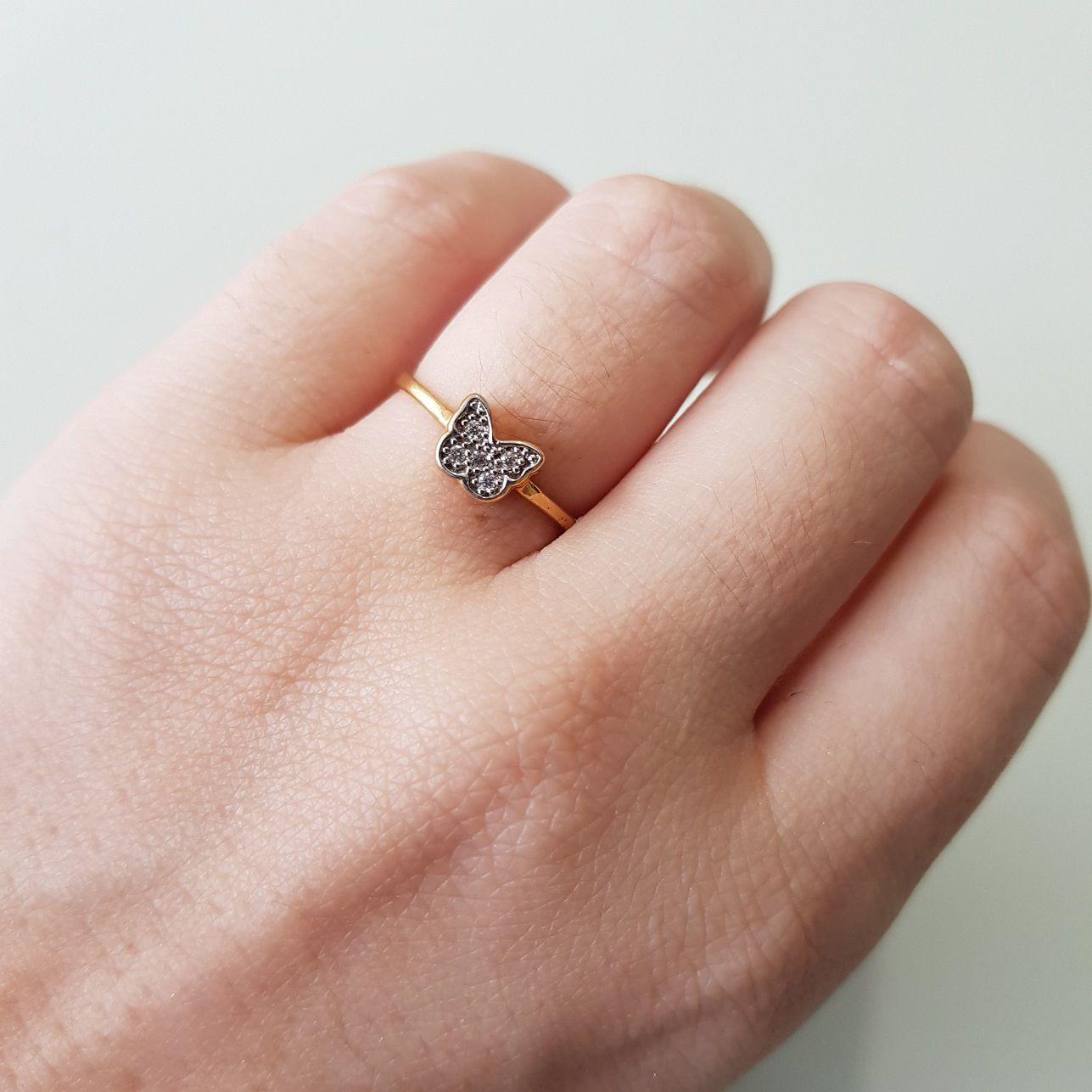 Anel Borboleta de Microzircônias 2943