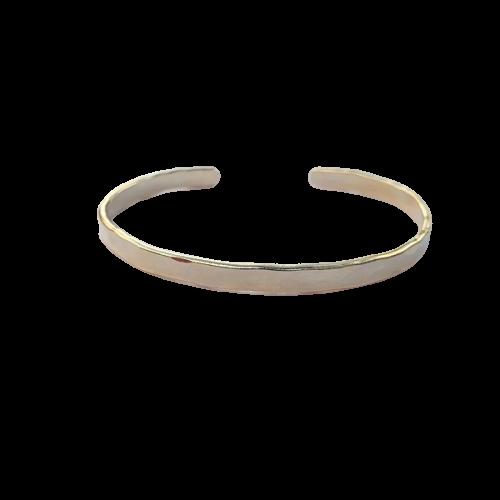 Bracelete Fino Martelado Ajustável 4728