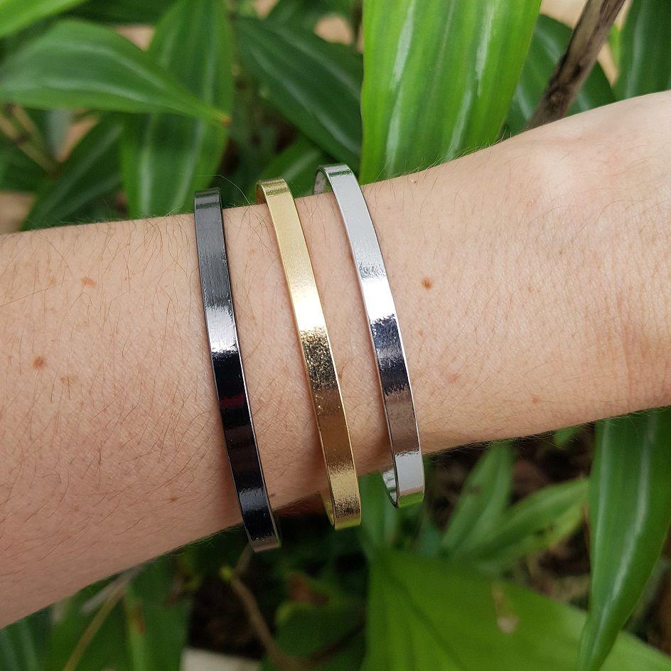Bracelete Liso e Fino 4128