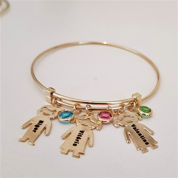 Bracelete Personalizada Com Crianças e Pontos de Luz