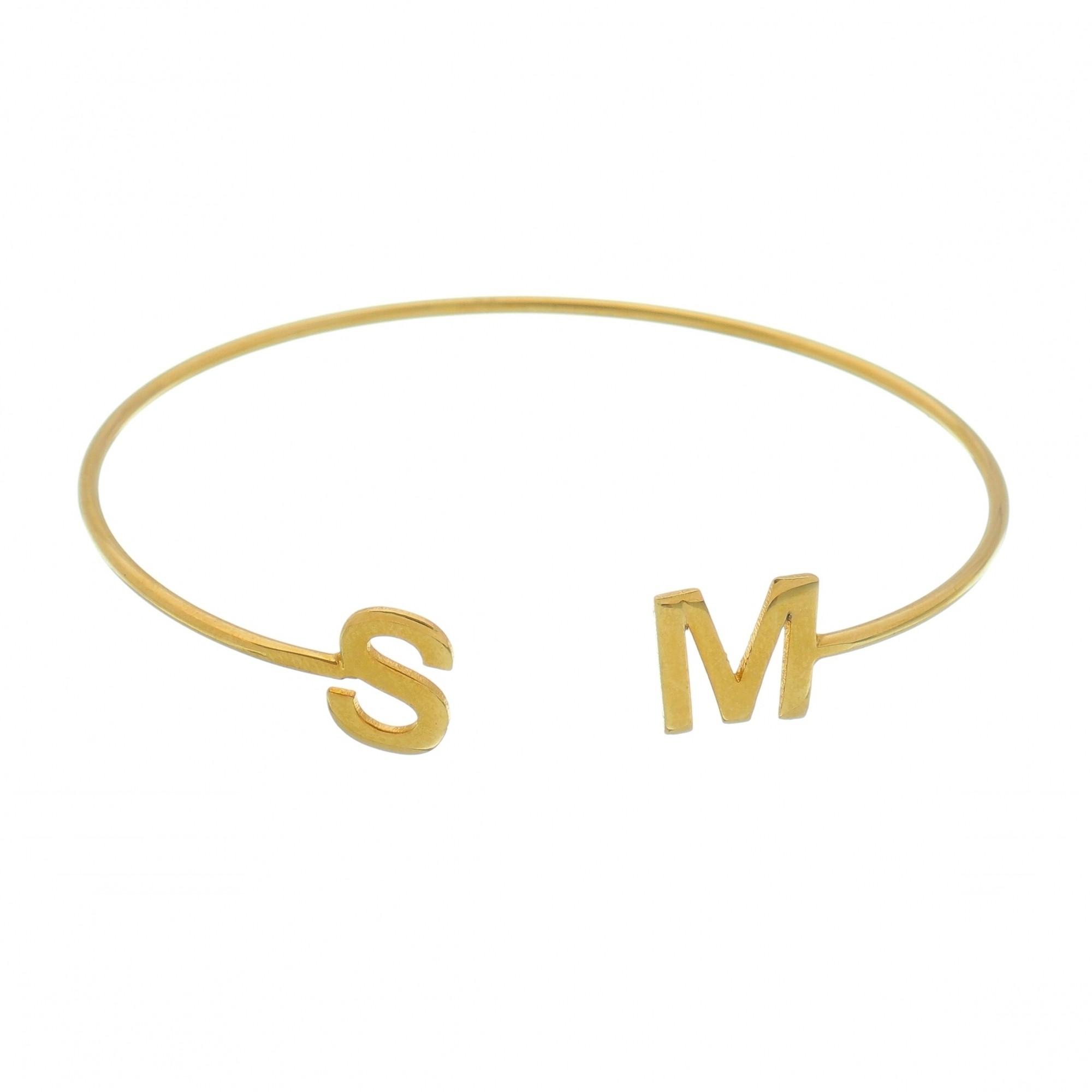 Bracelete personalizado com Iniciais Lisa