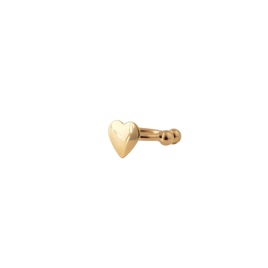 Brinco Piercing Coração Liso 5185