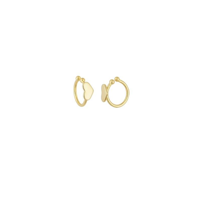 Brinco Piercing Fake Liso de Coração 4968