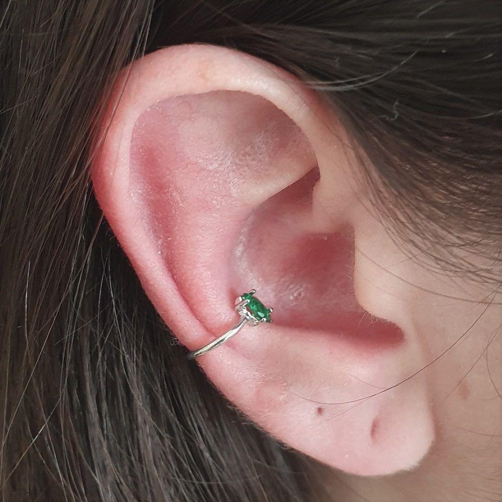 Brinco Piercing Pedra Colorida 4499