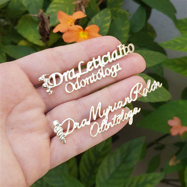 Broche Personalizado com Nome e Desenho