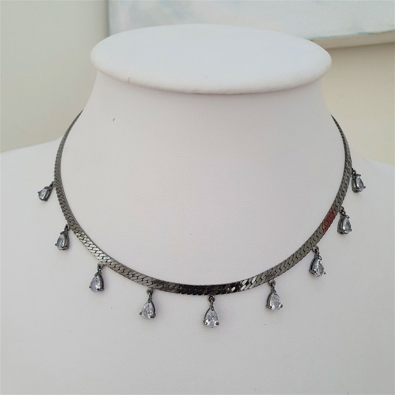 Chocker Correntaria com Gotas 4377