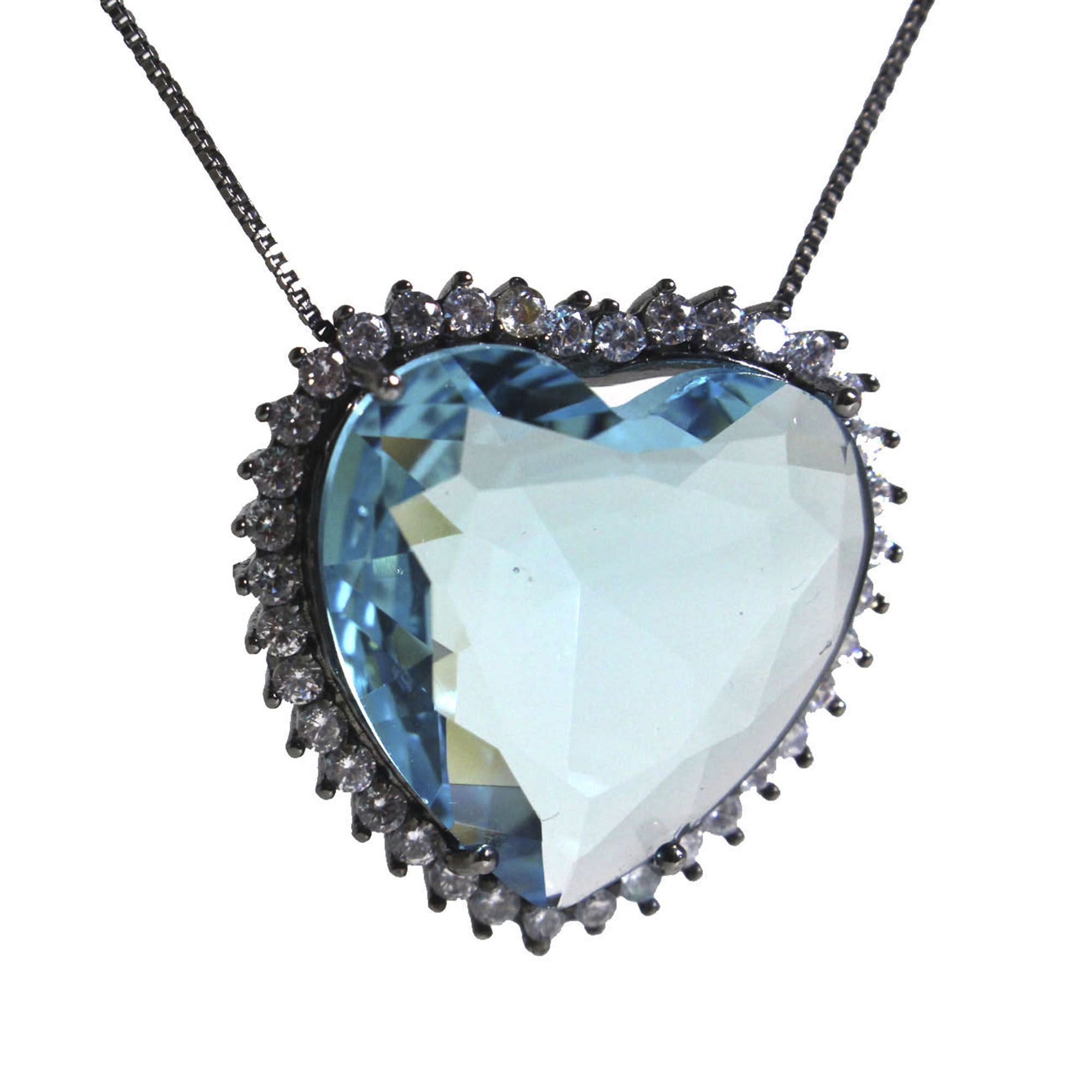 Colar Big Coração com Zircônias 4383