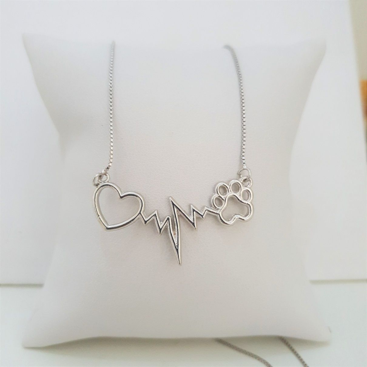 Colar Cardiograma Pet Patinha 4276