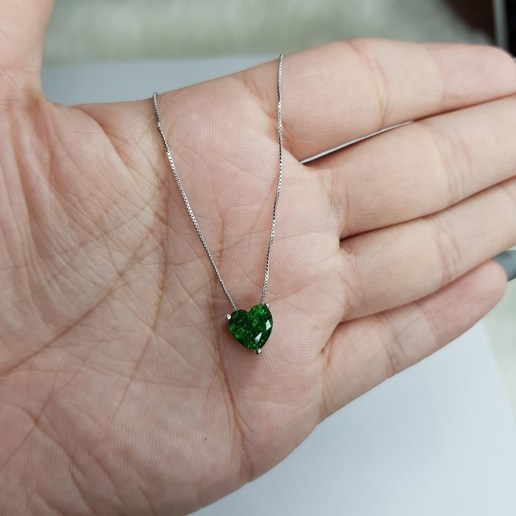Colar de Coração Fusion Verde 4370