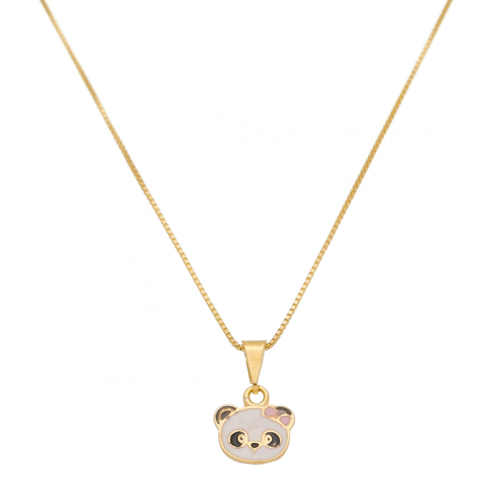 Colar Infantil Panda 4554