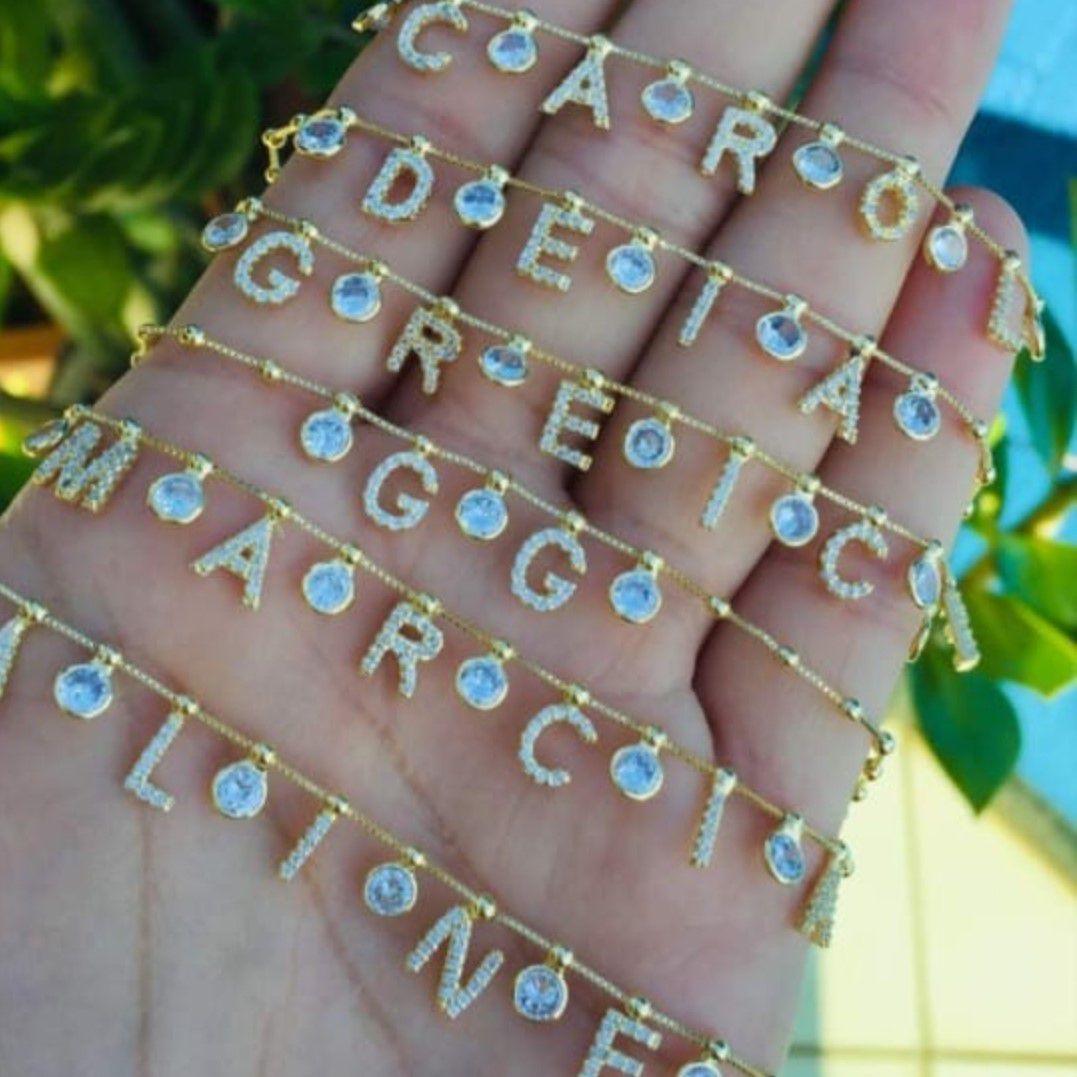 Colar Letras em Microzircônias 2600