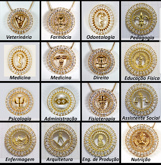 Colar Mandala Navetes Redonda Profissão 3772