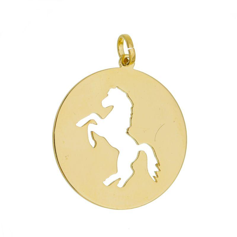 Colar Medalha Cavalo Vazado 4470