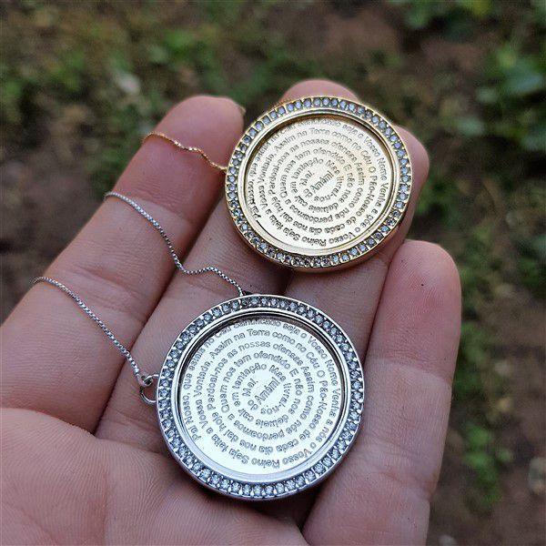 Colar Medalha Pai Nosso 3791