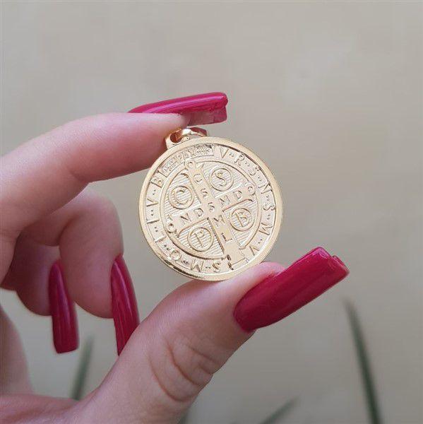Colar Medalha São Bento Elo Português 4004