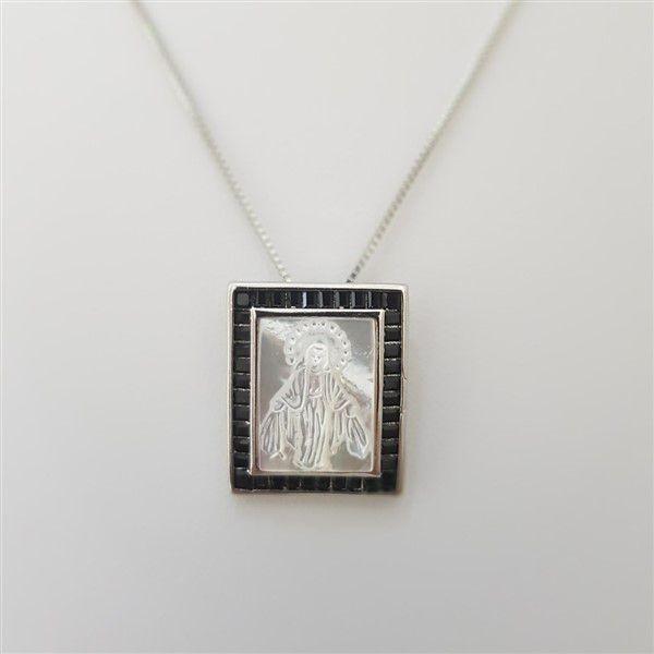 Colar Nossa Senhora das Graças Madre Perola 4008 Negra