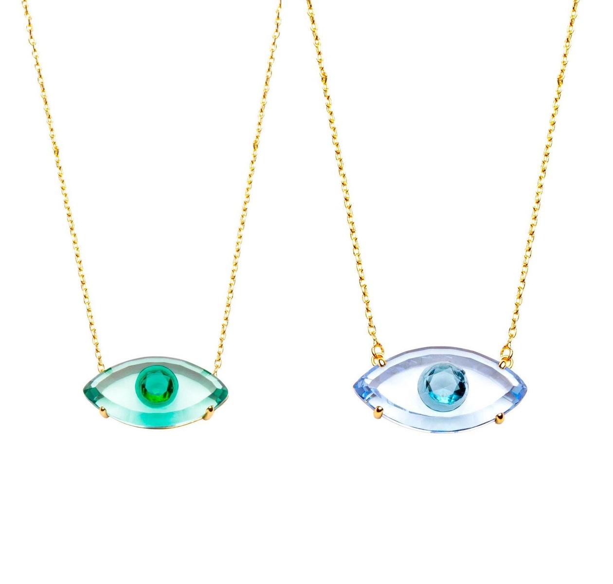 Colar Olho Grego Cristal 5083