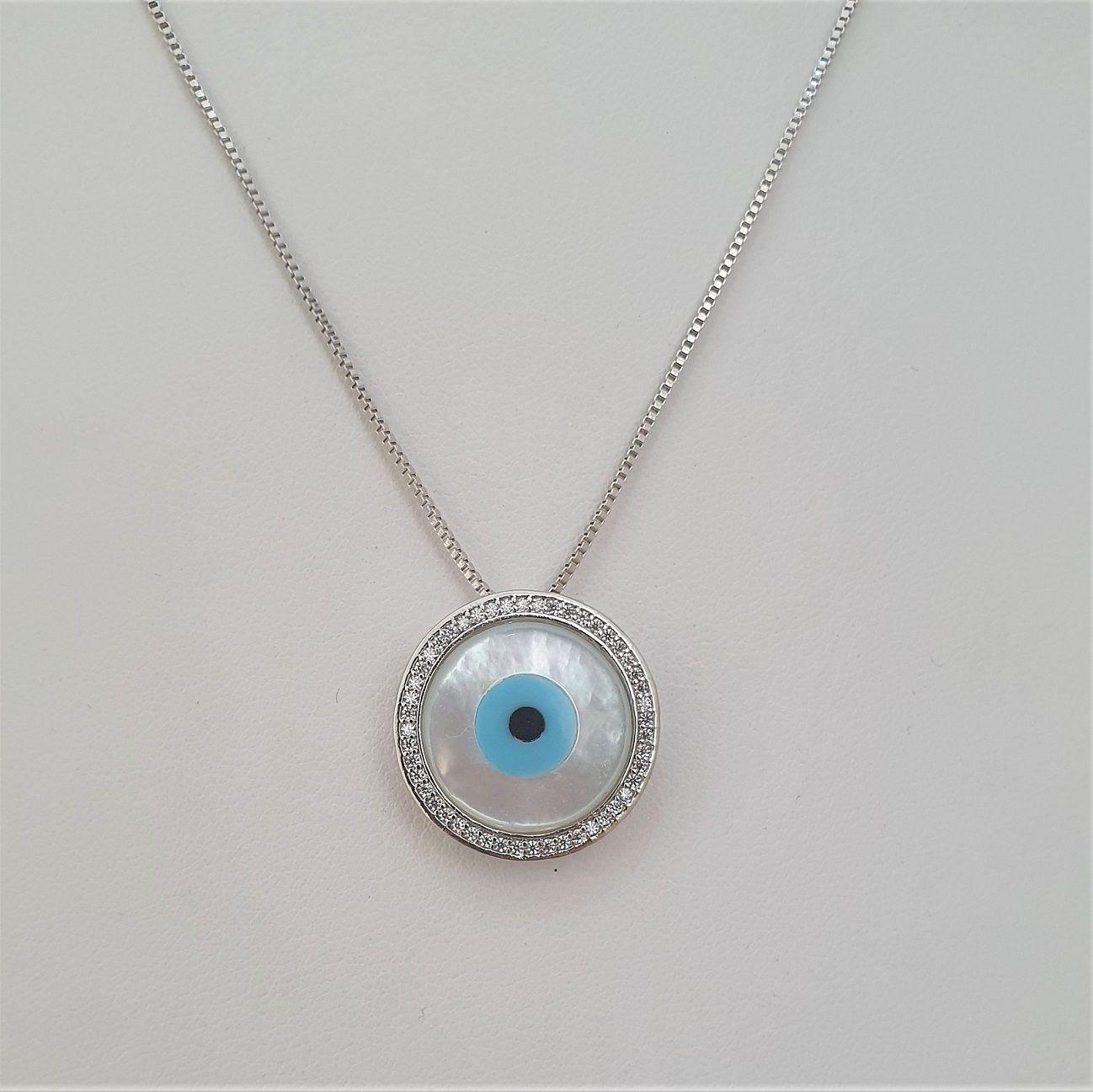 Colar Olho Grego Grande 4365