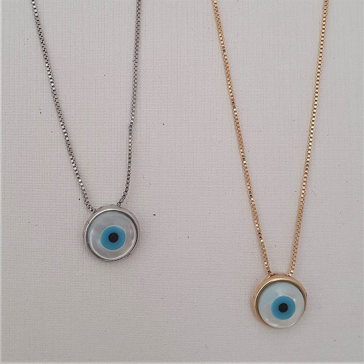 Colar Olho Grego Madre Pérola 4471