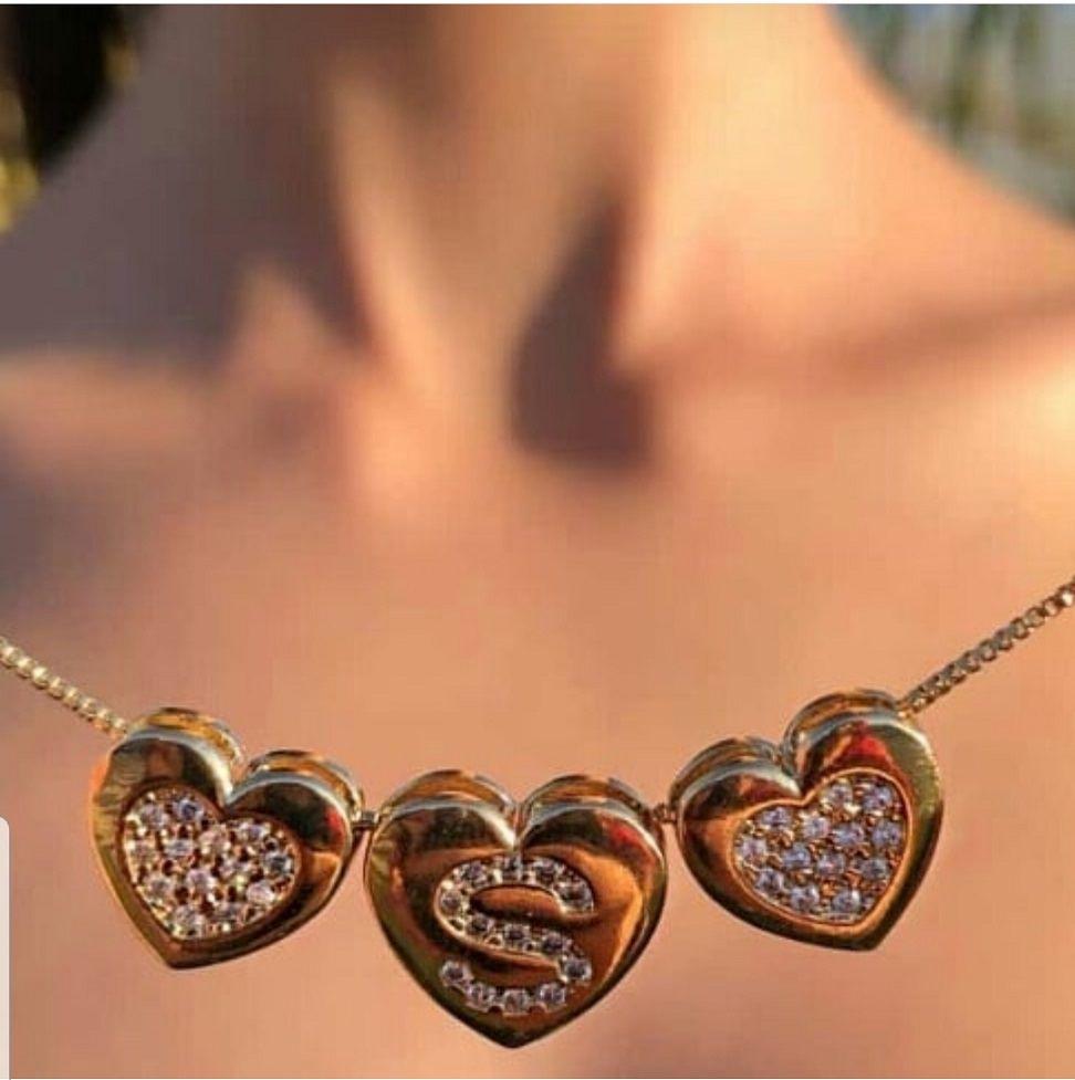 Colar Personalizado Coração com Zirconia 3906