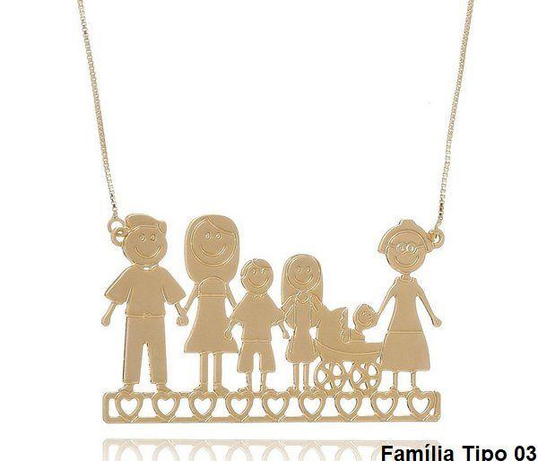 Colar Personalizado Família Feliz