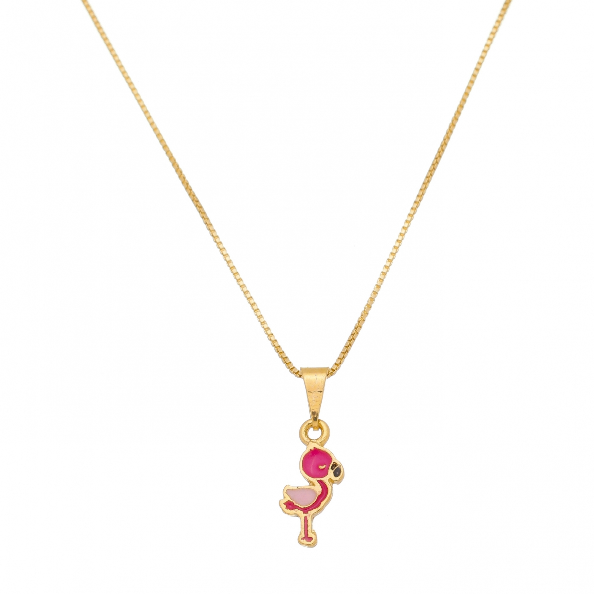 Kit Conjunto Infantil Brincos Colar e Pulseiras Flamingo