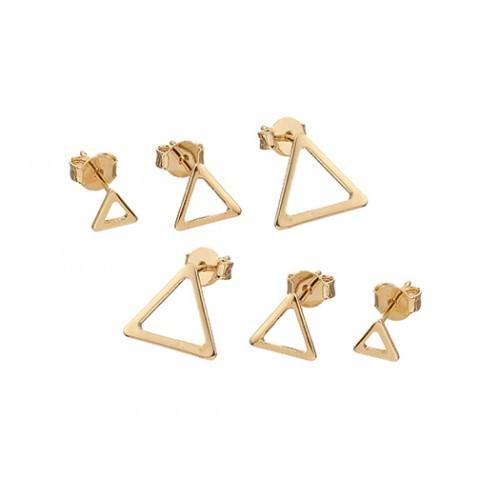 Kit 03 Brincos Triângulos 4863