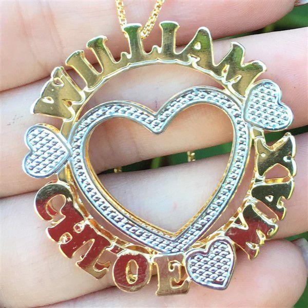 Mandala Personalizada com Nomes e Coração Vazado