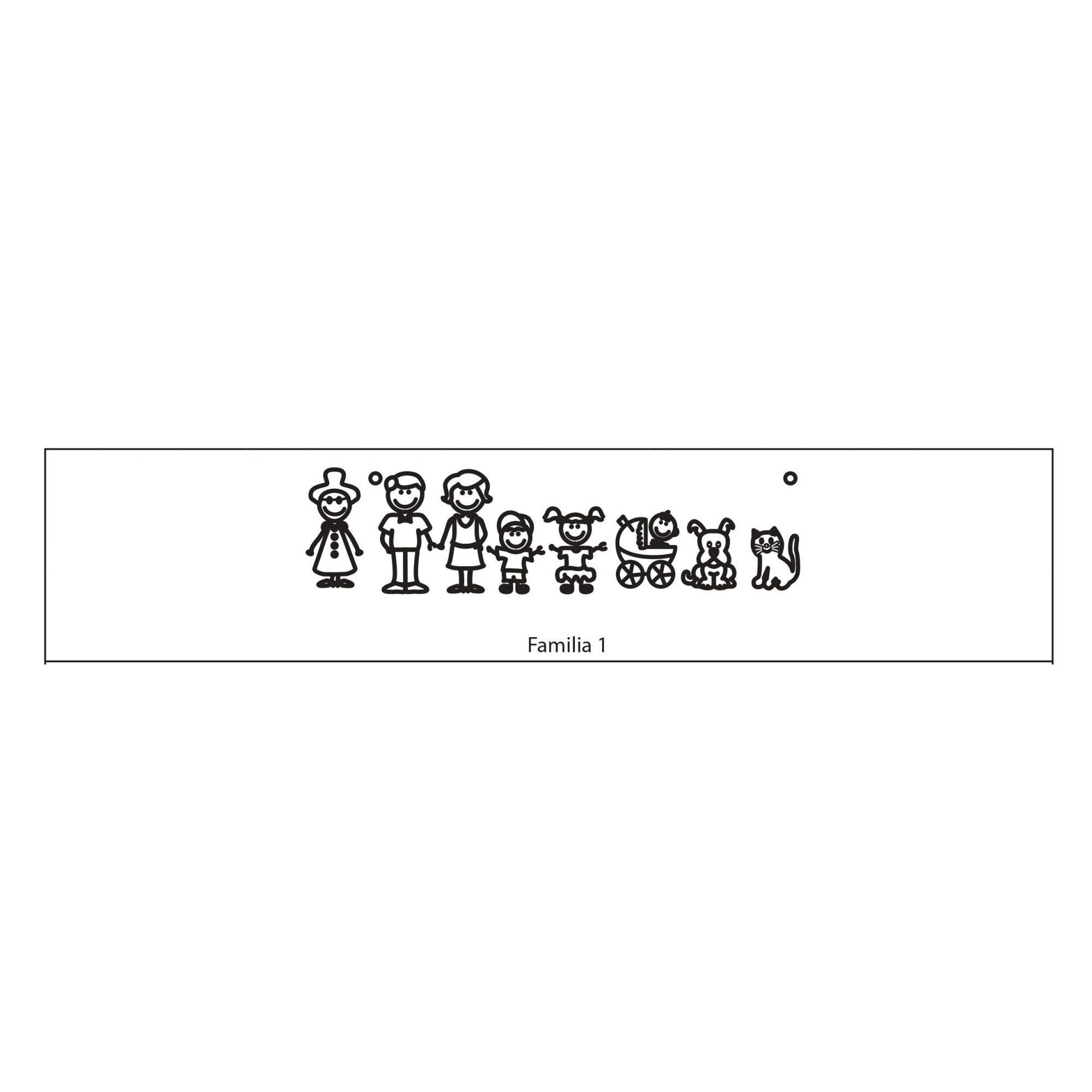 Mandala Personalizada com Nomes Família Feliz