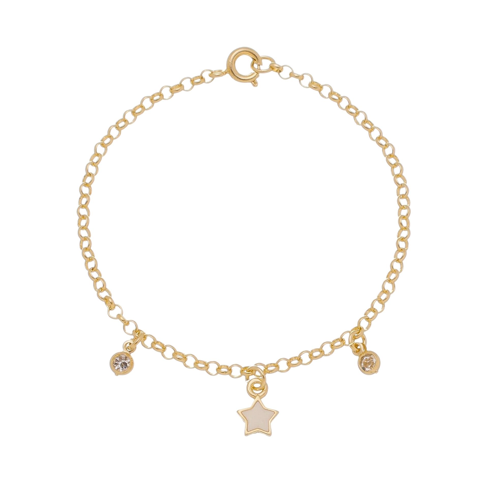 Pulseira Infantil Estrela Branca 4563