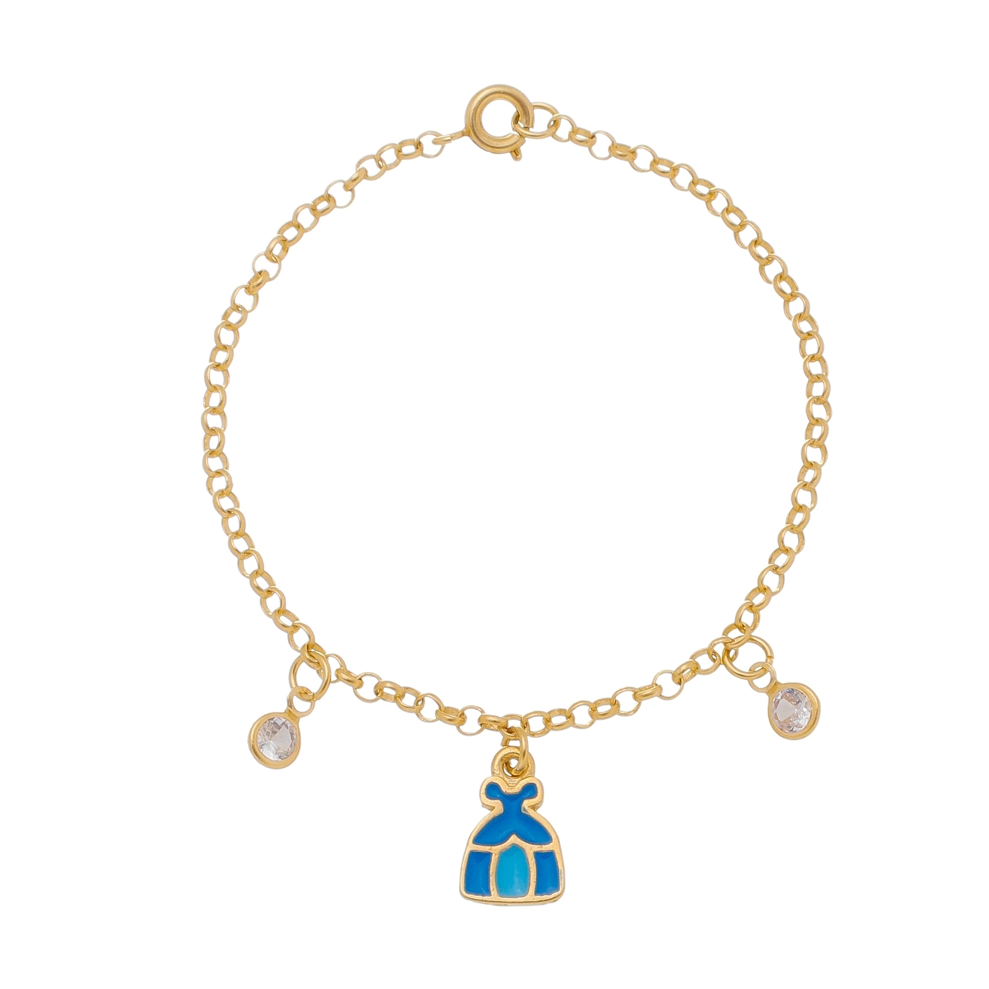 Pulseira Infantil Vestido Cinderela 4113