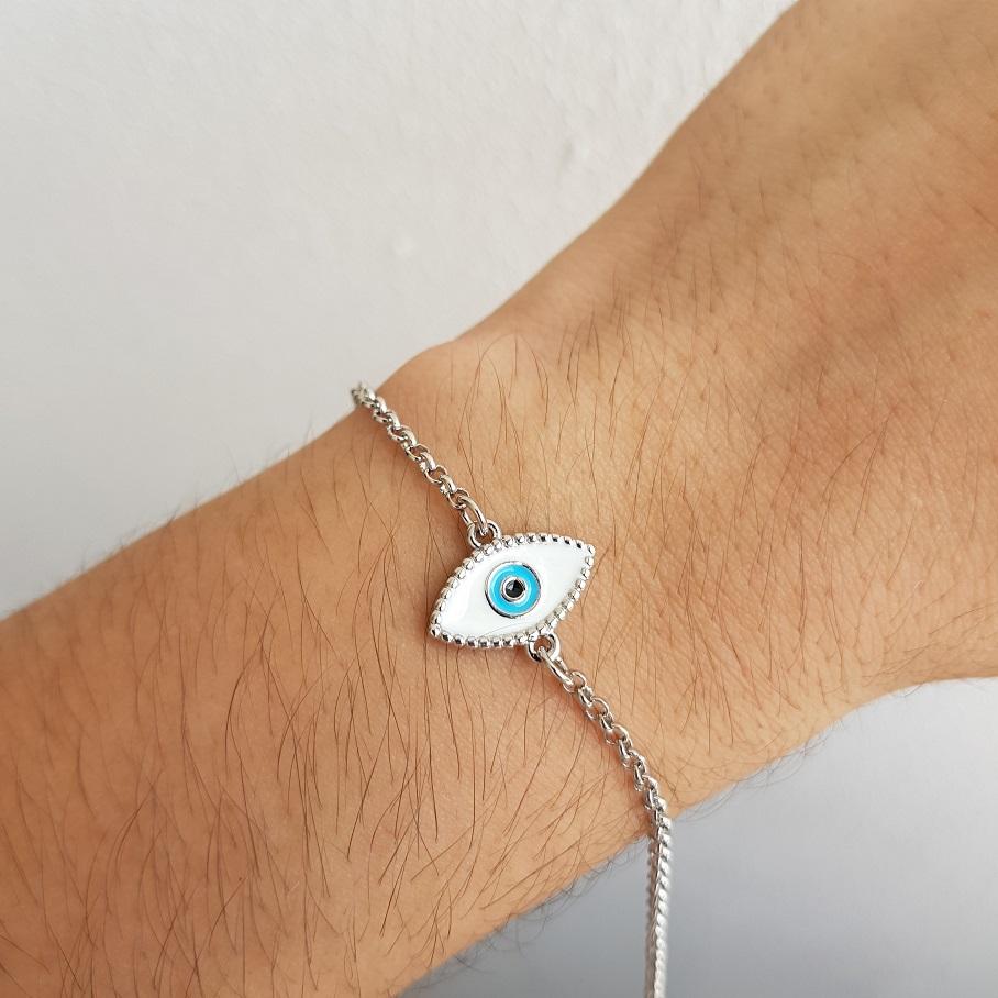 Pulseira Olho Grego com Esmalte 5002