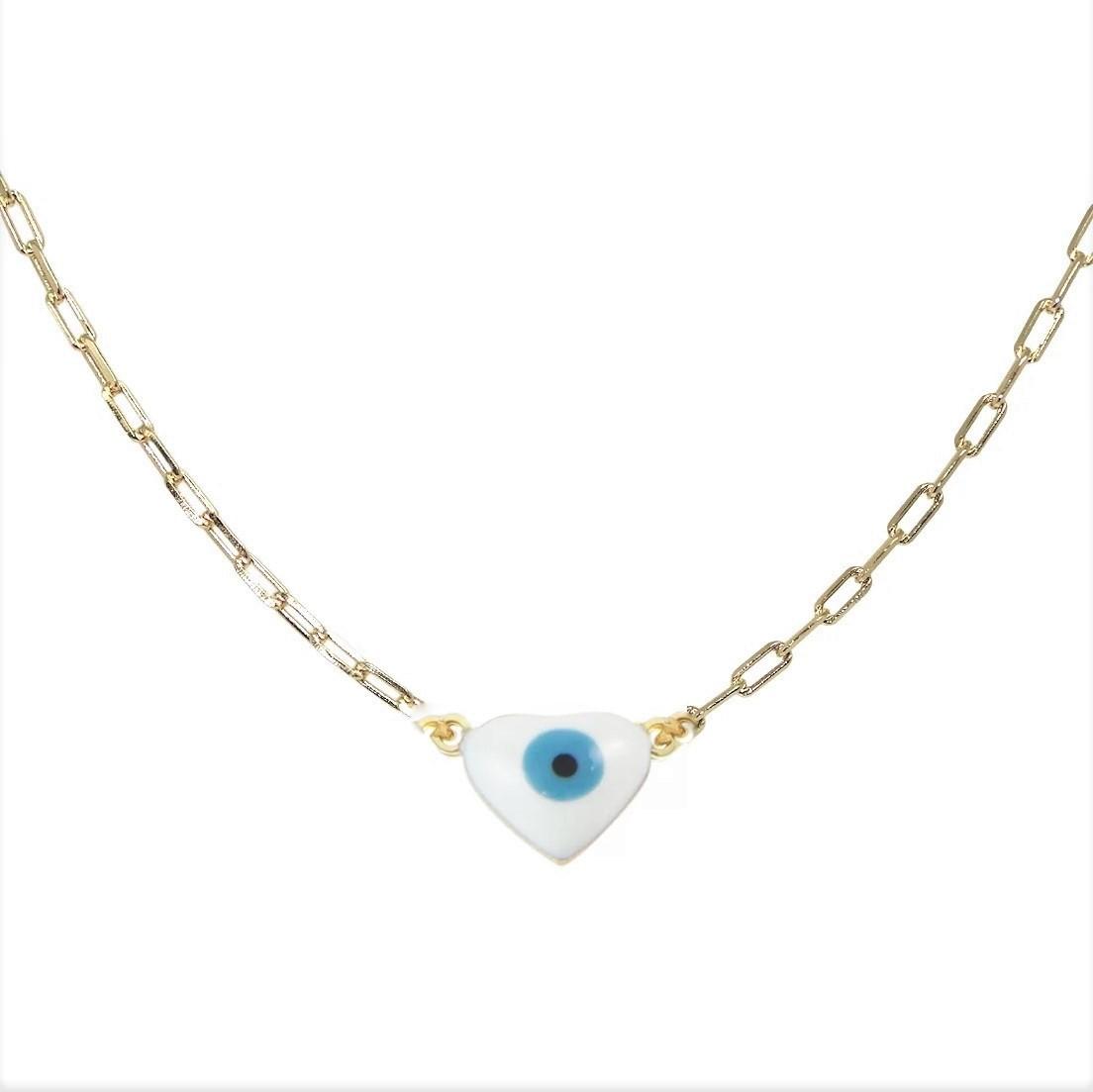 Tornozeleira Coração Olho Grego 4841