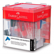 Apontador Depósito Cores Sortidas 25 Unidades Faber Castell