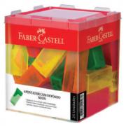 Apontador Depósito Neon Cores Sortidas 25 Unidades Faber Castell