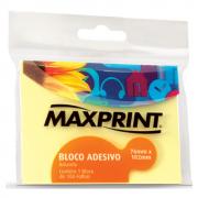 Bloco Adesivo 76mm x 102mm Amarelo Maxprint