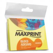 Bloco Adesivo 76mm x 102mm Amarelo Neon Maxprint