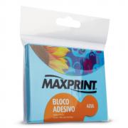 Bloco Adesivo 76mm x 102mm Azul Neon Maxprint