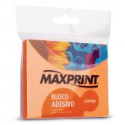 Bloco Adesivo 76mm x 102mm Laranja Neon Maxprint