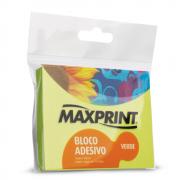 Bloco Adesivo 76mm x 102mm Verde Neon Maxprint
