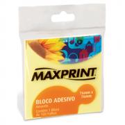 Bloco Adesivo 76mm x 76mm Amarelo Maxprint