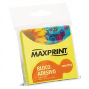 Bloco Adesivo 76mm x 76mm Amarelo Neon Maxprint