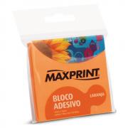 Bloco Adesivo 76mm x 76mm Laranja Neon Maxprint